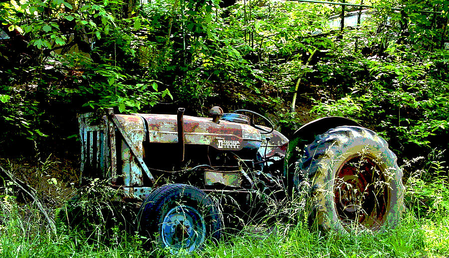 Tractor Photograph - Fordson Major Diesel by Robert J Andler