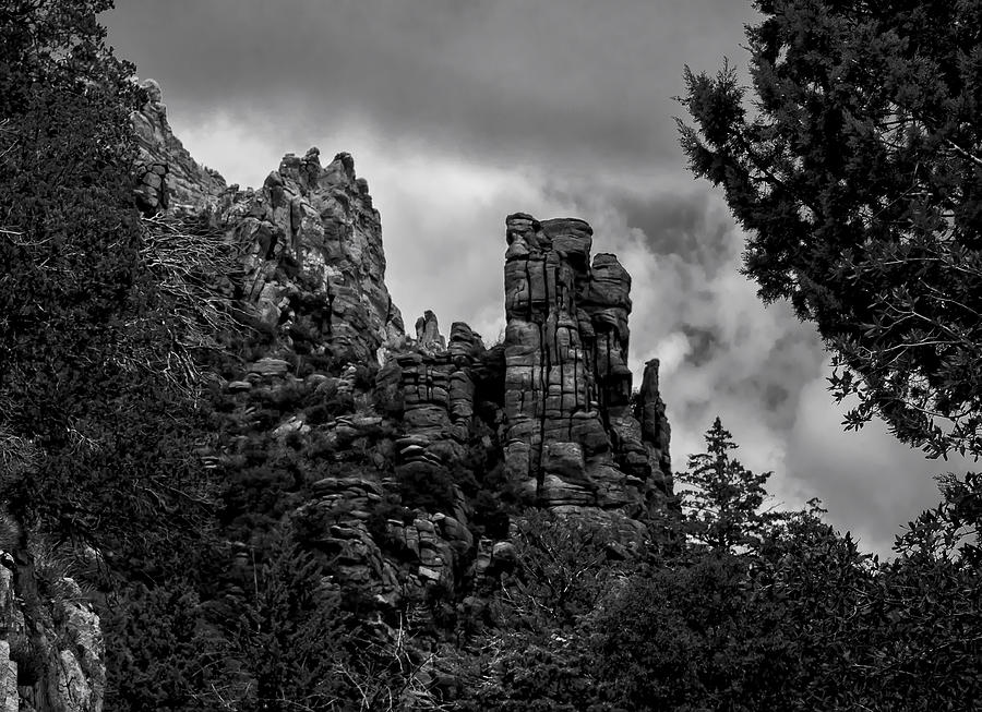 Foreboding Towers Photograph