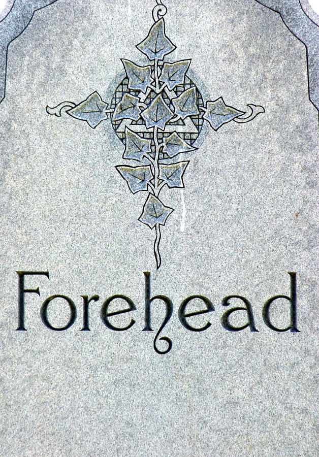 Forehead Headstone by Jeff Lowe