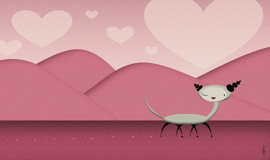 Love Digital Art - Foreign Love by Kate Paulos