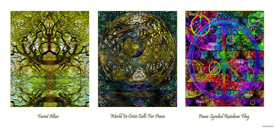 Forest Altar World Crisis Peace Mixed Media
