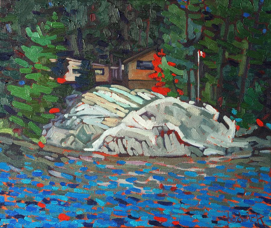 Cottage Painting - Forest Cottage by Phil Chadwick