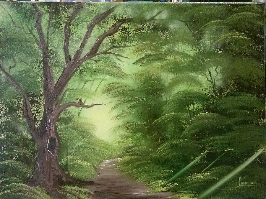Green Painting - Forest Edge by Lynn Lawrence