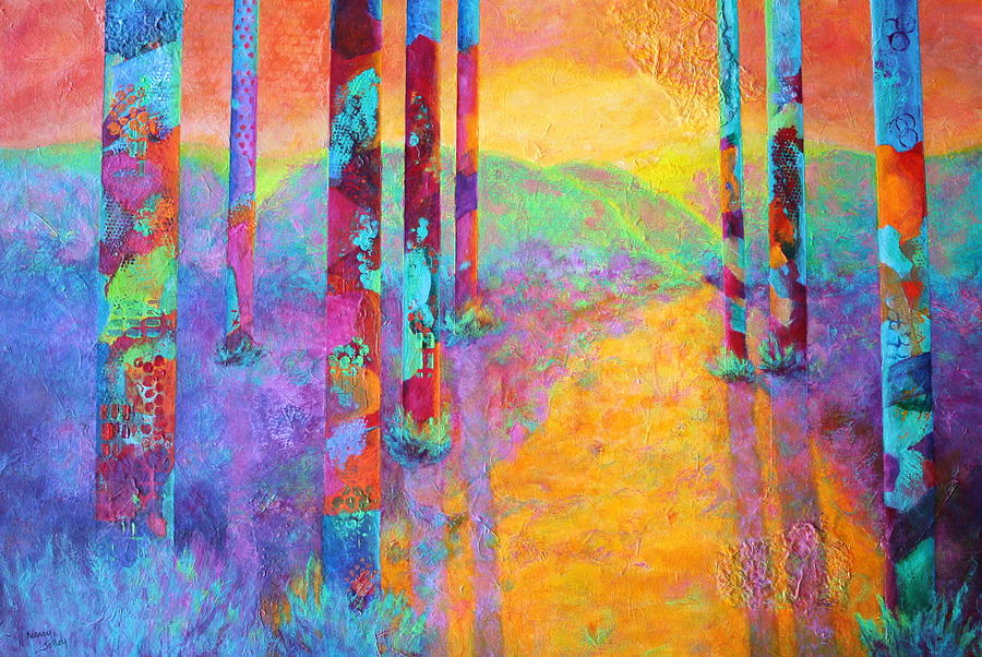 Forest Painting - Forest Fantasy by Nancy Jolley