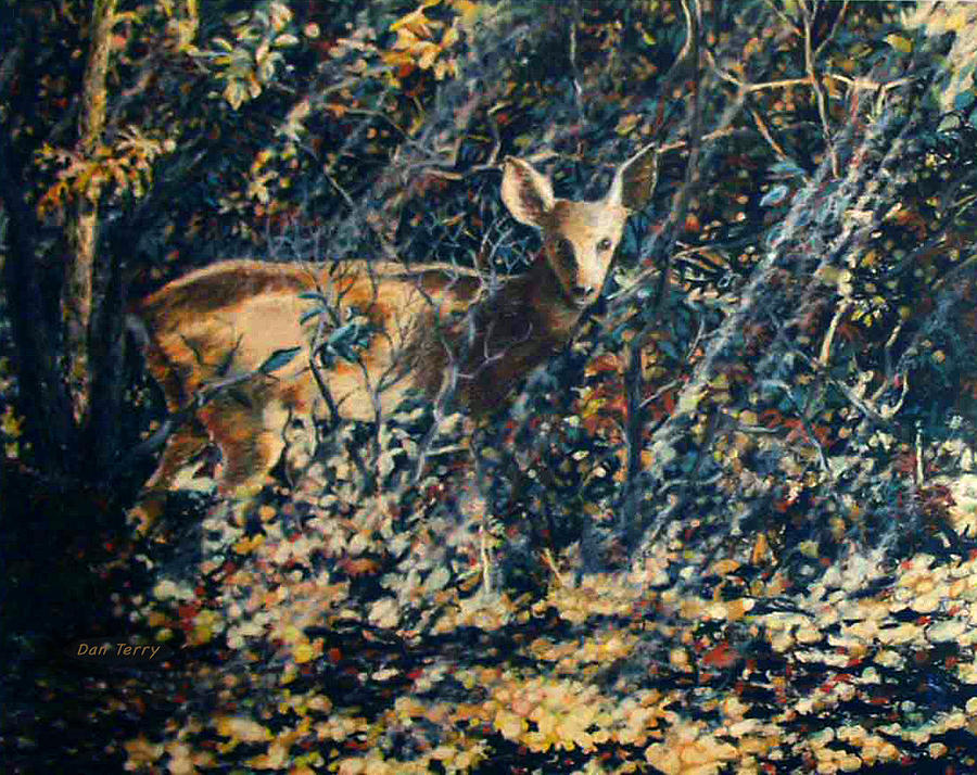 Fawn Painting - Forest Fawn by Dan Terry