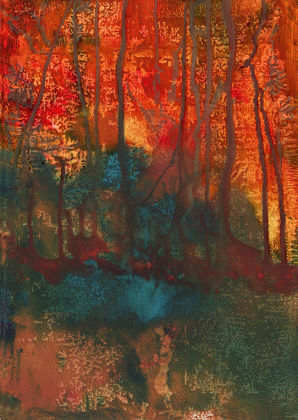 Forest Painting - Forest Fire by Anneke Hut