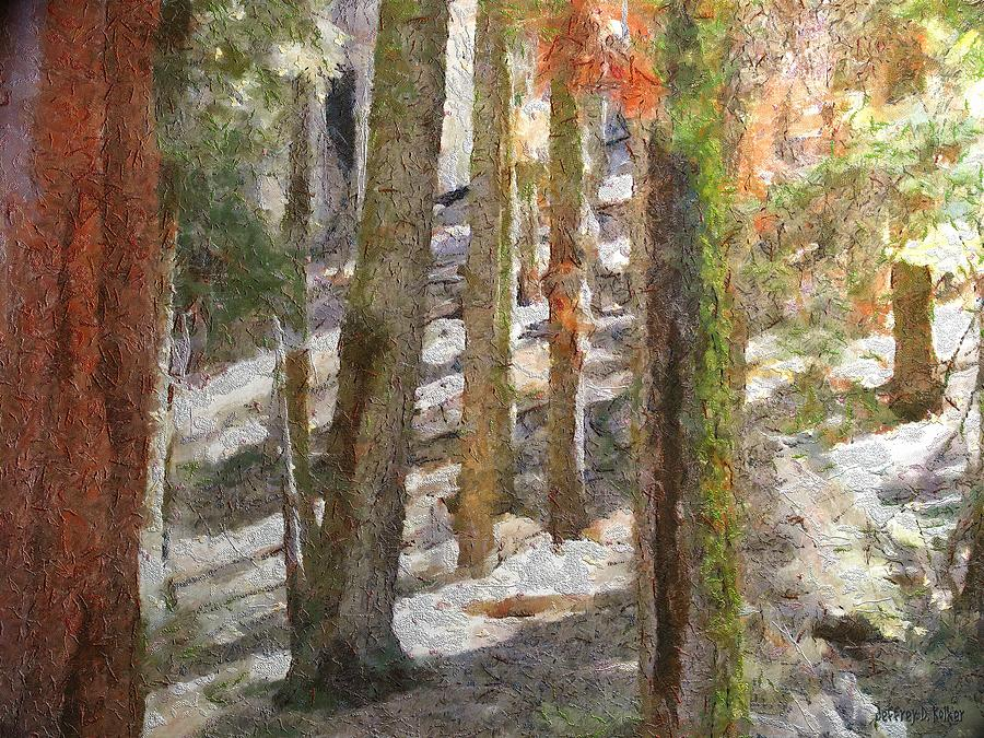 California Painting - Forest For The Trees by Jeff Kolker
