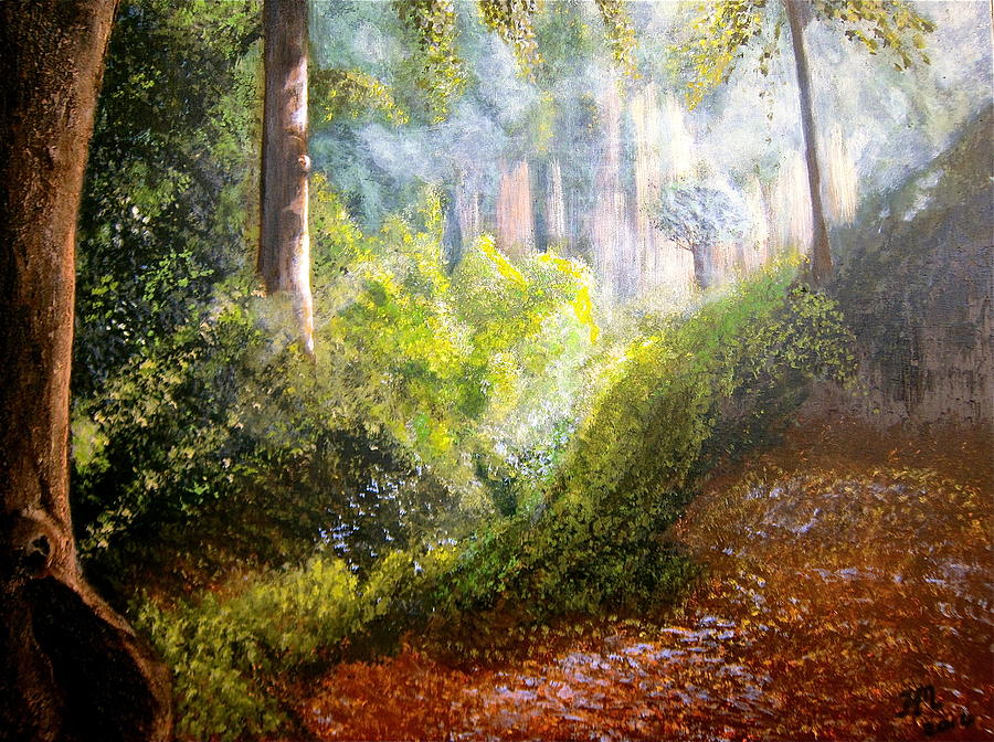 Forest Glade Painting - Forest Glade by Heather Matthews