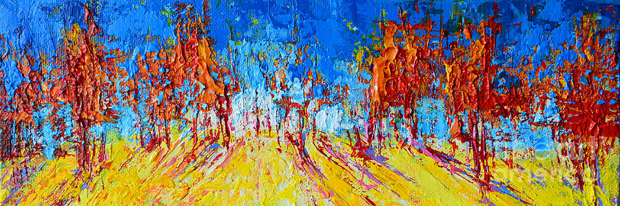 Tree Forest 1 Modern Impressionist landscape painting palette knife work by Patricia Awapara