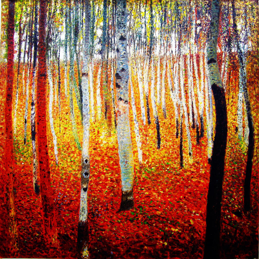 Forest Of Beech Trees Painting