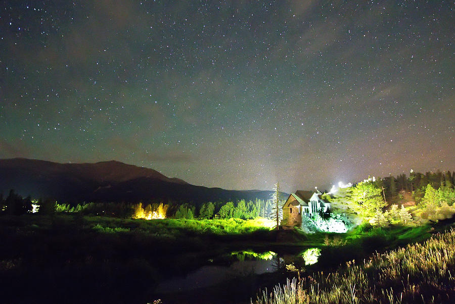 Chapel On The Rock Photograph - Forest Of Stars Above The Chapel On The Rock by James BO  Insogna