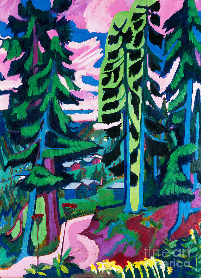 Expressionism Painting - Forest Path In Summer by Ernst Ludwig Kirchner