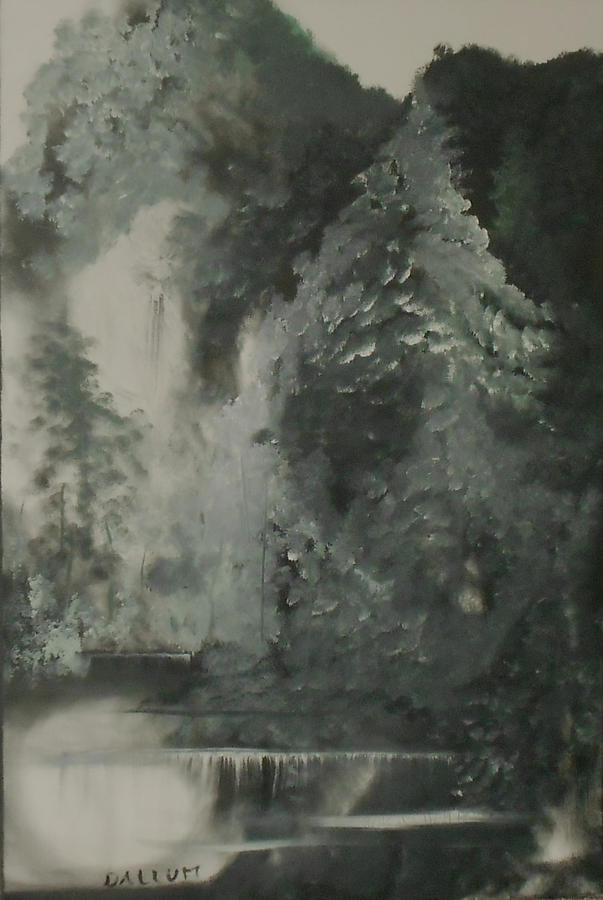 Forest Shore Painting by Gregory Dallum