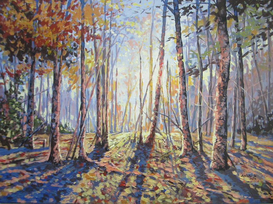Forest Walk Paintings Painting - Forest Walking by Andrei Attila Mezei