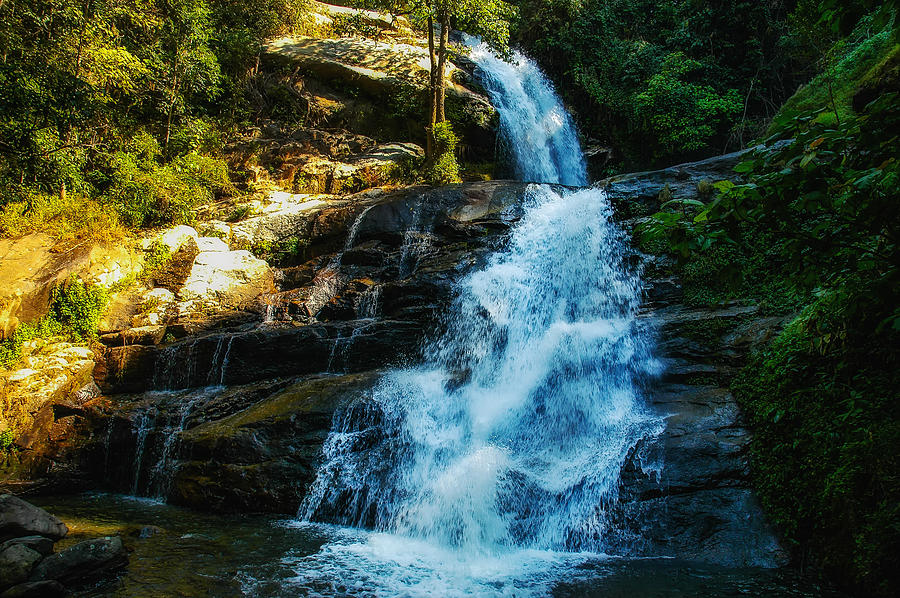 Landscape Photograph - Forest Waterfall by Mountain Dreams
