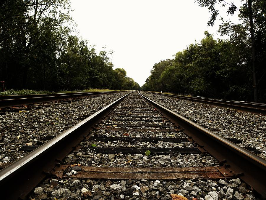 Railroad Photograph - Forever by Christian Rooney