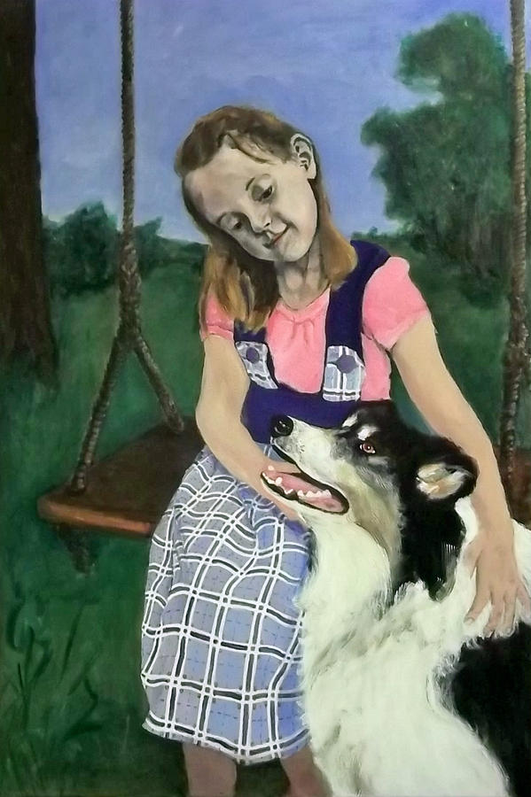 Dog Painting - Forever Friends by Peter Edward Green