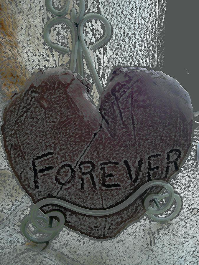 Heart Digital Art - Forever by Lovina Wright