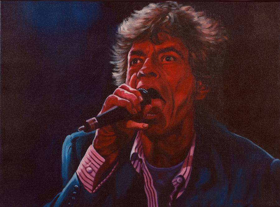 Mick Jagger Painting - Forever Mick by Debbie Patrick