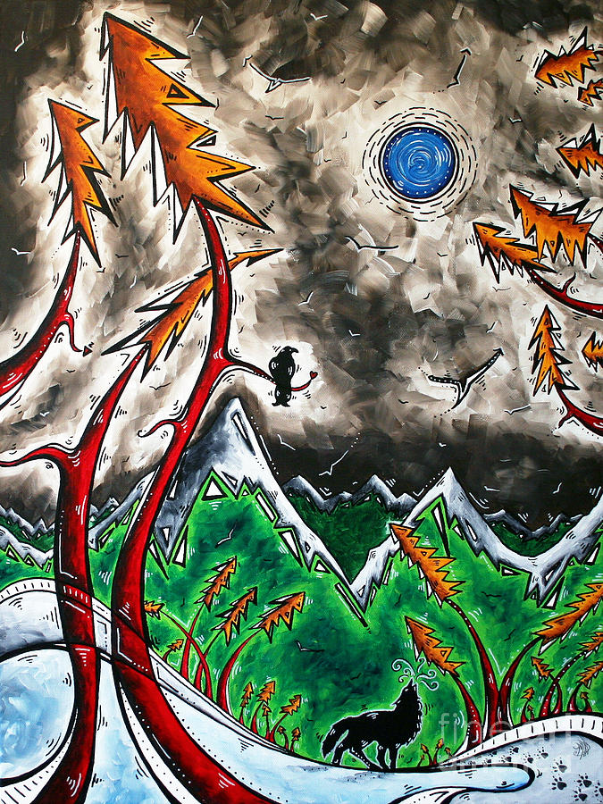 Painting Painting - Forever Wild Original Madart Painting by Megan Duncanson
