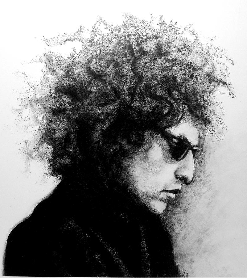 Bob Dylan Drawing - Forever Young by Karen Roncari