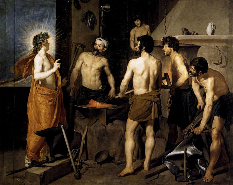 Forge Painting - Forge Of Vulcan  by Diego Rodriguez de Silva y Velazquez