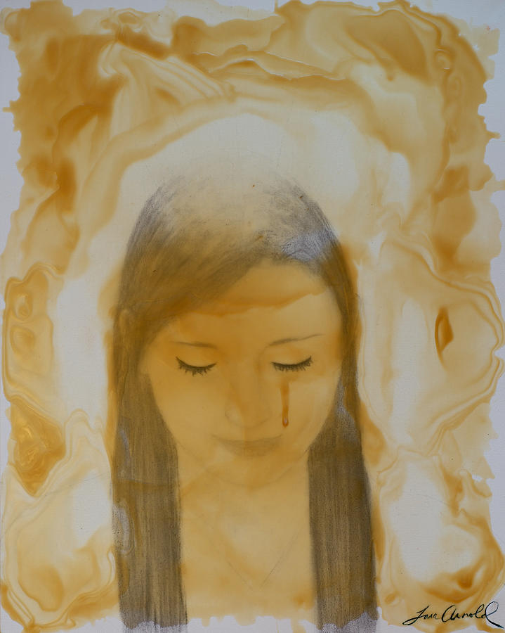 Beeswax Painting - Forgiven by T A