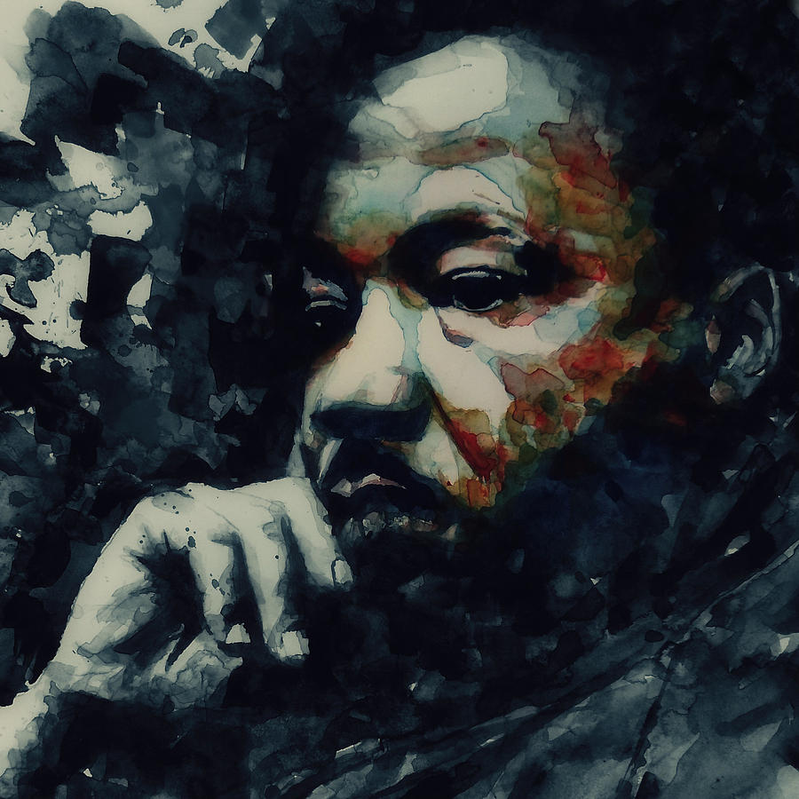 Martin Luther King Jr Painting - Martin Luther King -Forgiveness Is Not An Occasional Act It Is A Constant Attitude by Paul Lovering