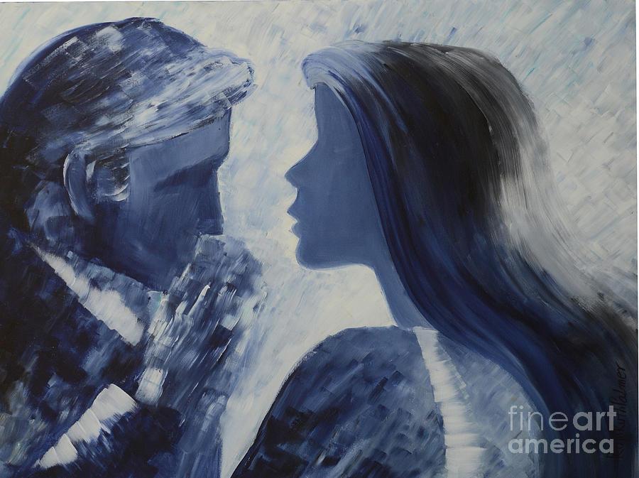 Figurative Painting - Forgiveness Kiss by Roni Ruth Palmer