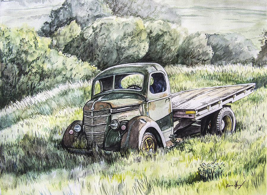 Truck Painting - Forgotten by Aaron Spong