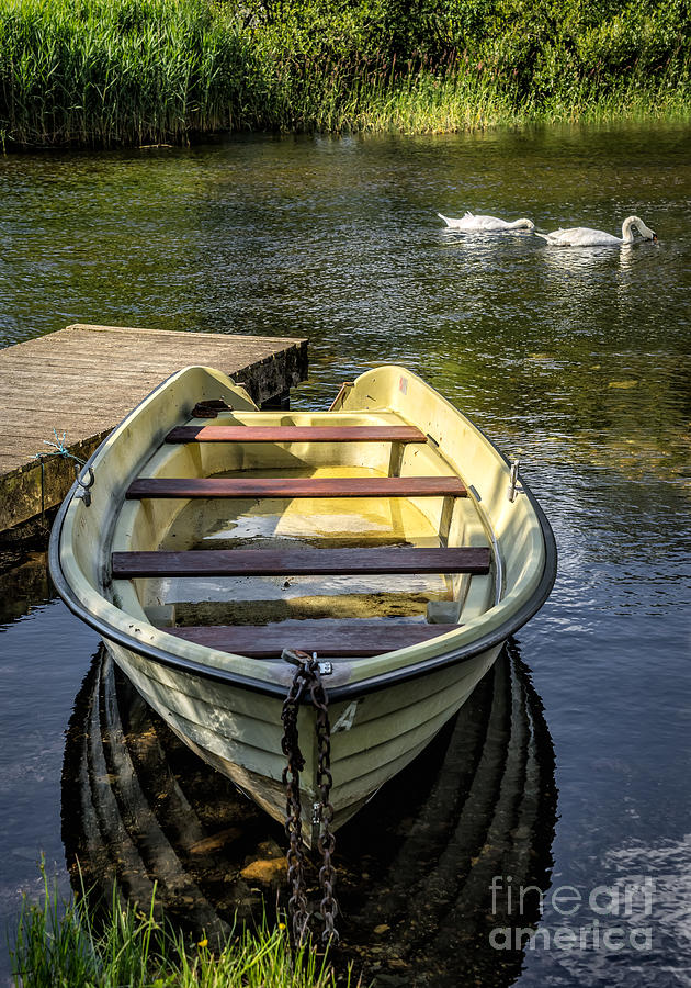 Pier Photograph - Forgotten Boat by Adrian Evans