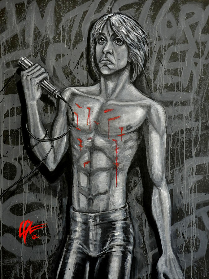 Iggy Pop Painting - Forgotten Boy by Lance Vaughn
