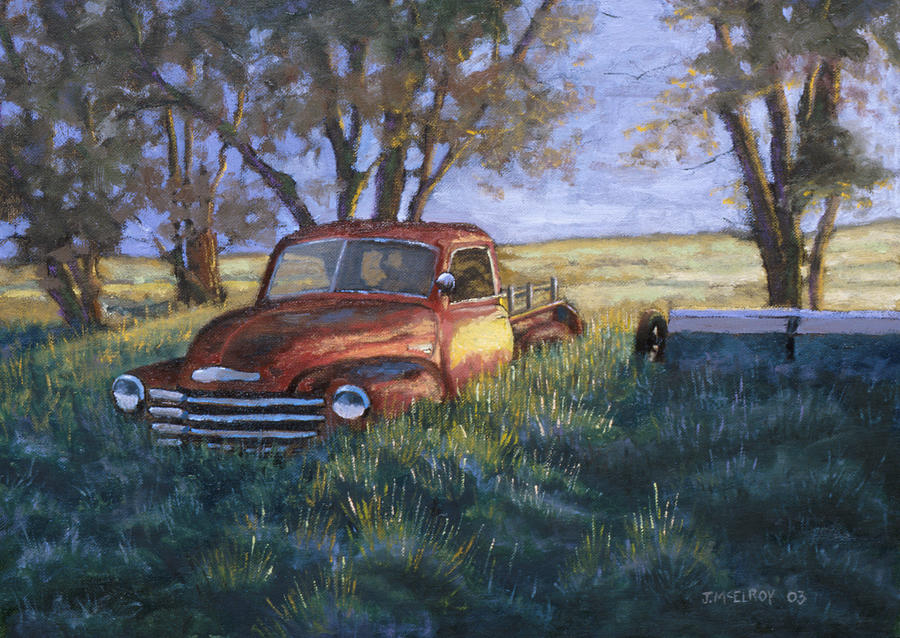 Pickup Truck Painting - Forgotten But Still Good by Jerry McElroy
