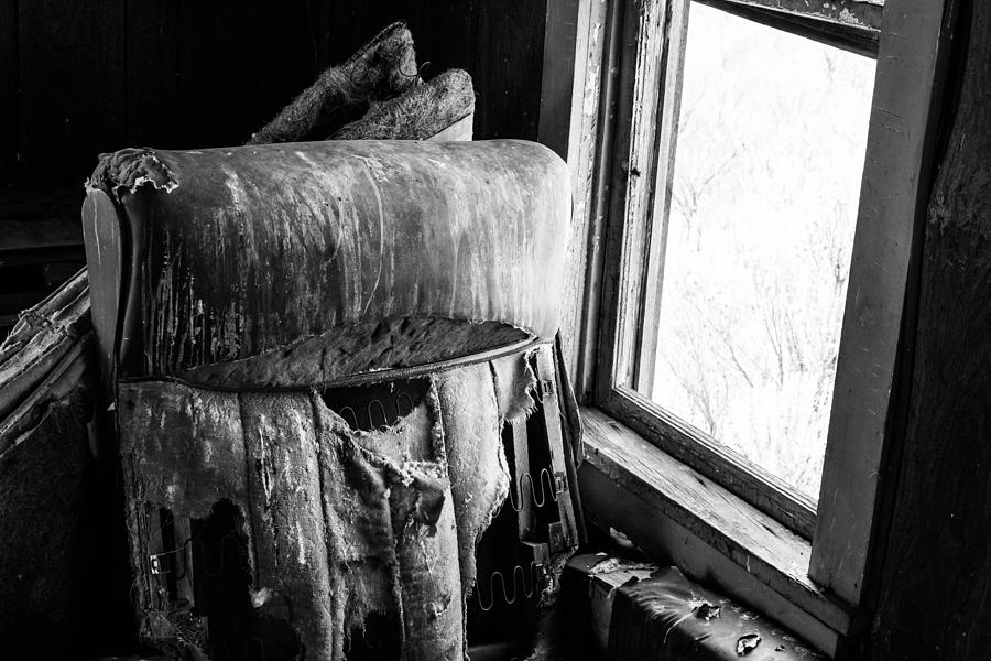 Chair Photograph - Forgotten Chair By The Window by Nathan Hillis