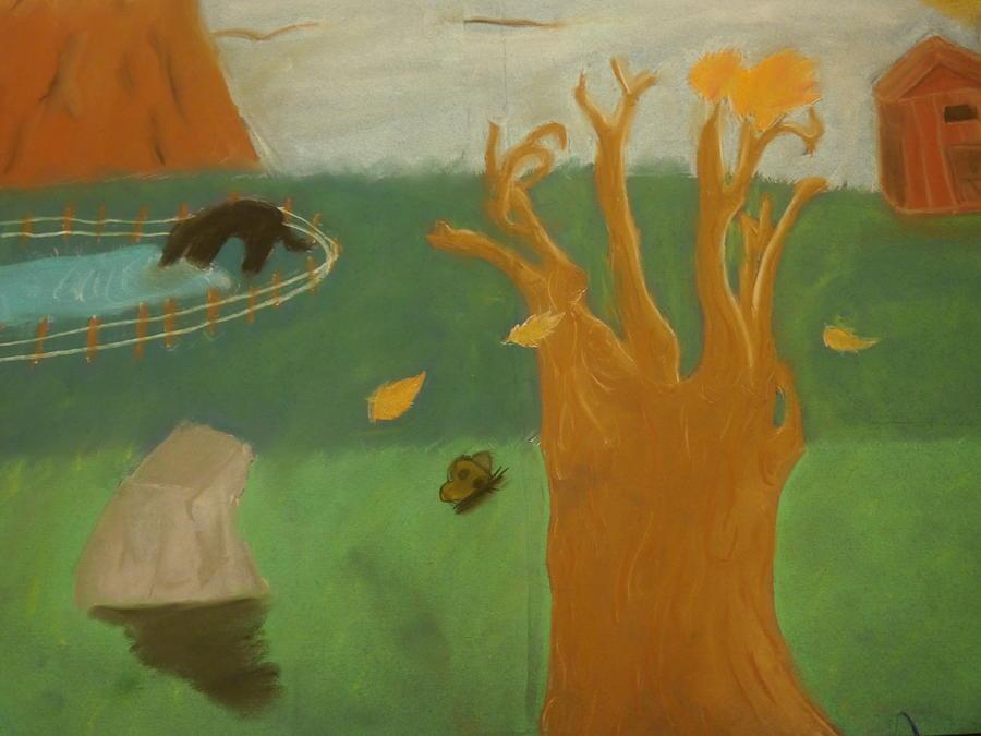 Landscapes Pastel - Forgotten Child Hood by Joshua Massenburg