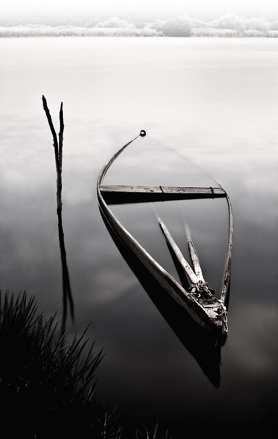Boats Photograph - Forgotten In Time by Jorge Maia