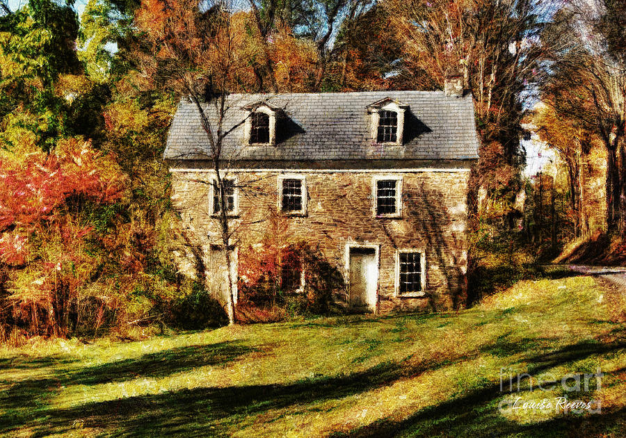 Stone House Photograph - Forgotten by Louise Reeves