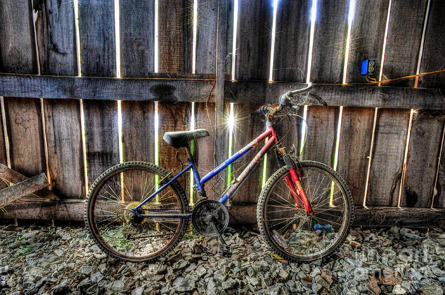 Bike Photograph - Forgotten Replaced By New Set Of Wheels by Dan Friend