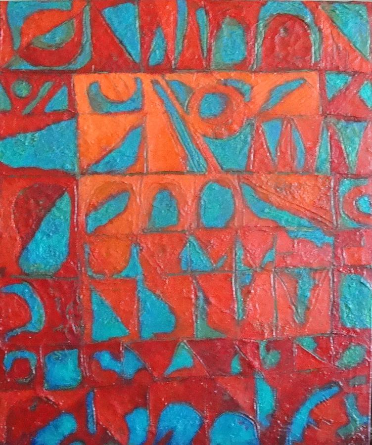 Abstract Painting - Forgotten Runes Of Ljung by Bernard Goodman