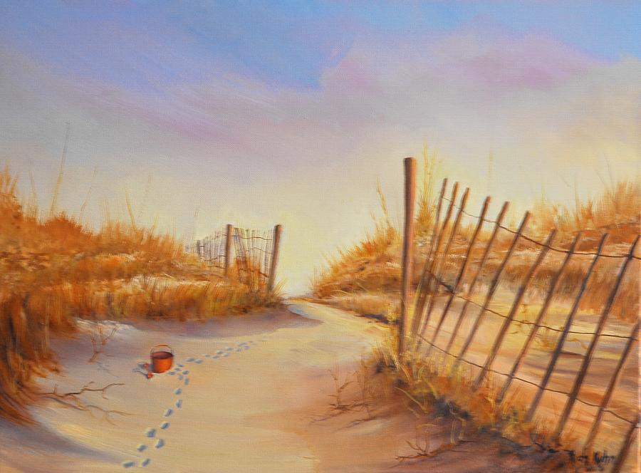 Landscape Painting - Forgotten Toy In The Sand by Rich Kuhn