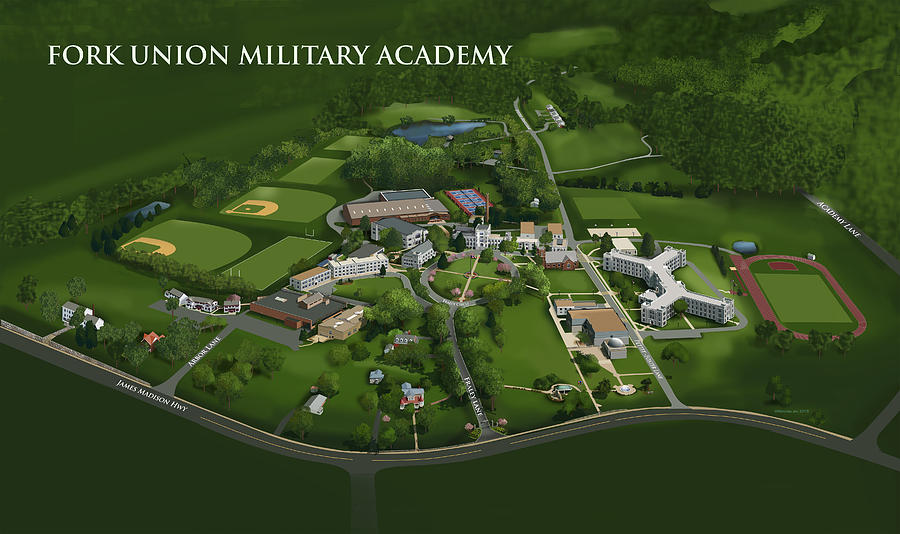 Fork Union Military Academy Painting - Fork Union Military Academy by Rhett and Sherry  Erb