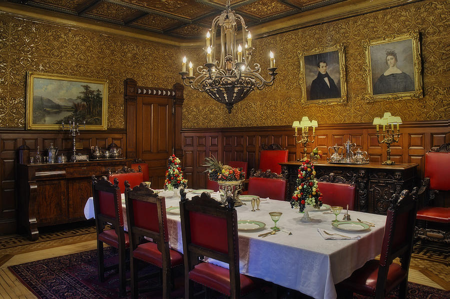 Lambert Castle Photograph - Formal Dining Room by Susan Candelario