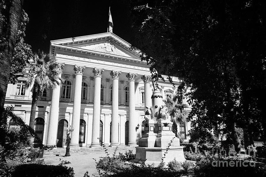 Former Photograph - former national congress building Santiago Chile by Joe Fox