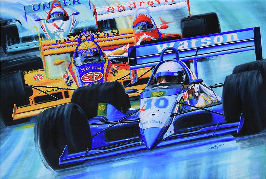 Race Cars Painting - Formula 1 Race by Hanne Lore Koehler