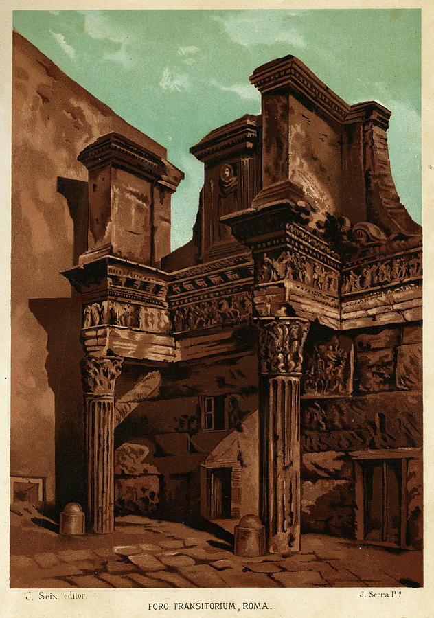 Rome Drawing - Foro Transitorum     Date 1891 by Mary Evans Picture Library