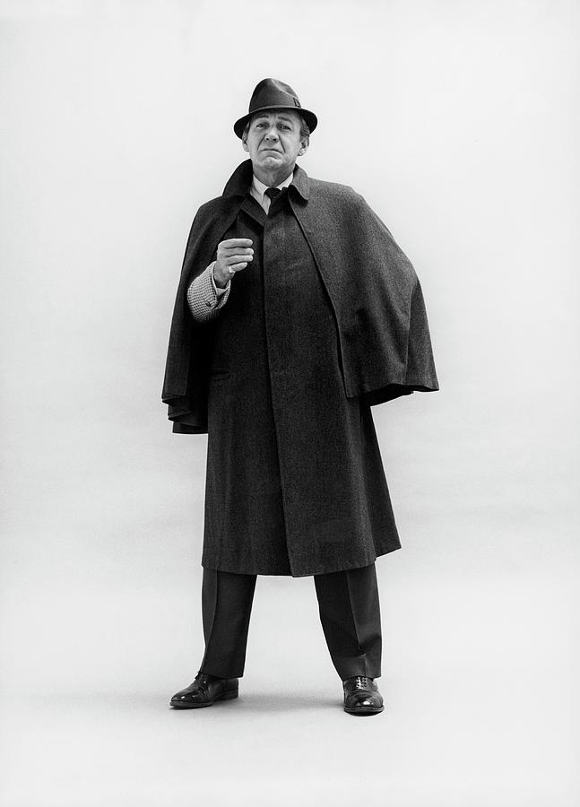 Forrest Tucker Wearing A Tweed Coat Photograph by Leonard Nones