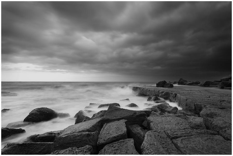 Black And White Photograph - Forresters Storm by Steve Caldwell
