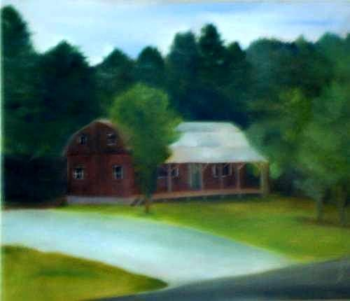 Upstate Painting - Forrests House by Sheila Mashaw
