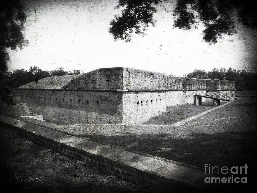 Fort Barrancas Faux Civil War Era Photograph by Tom Brickhouse