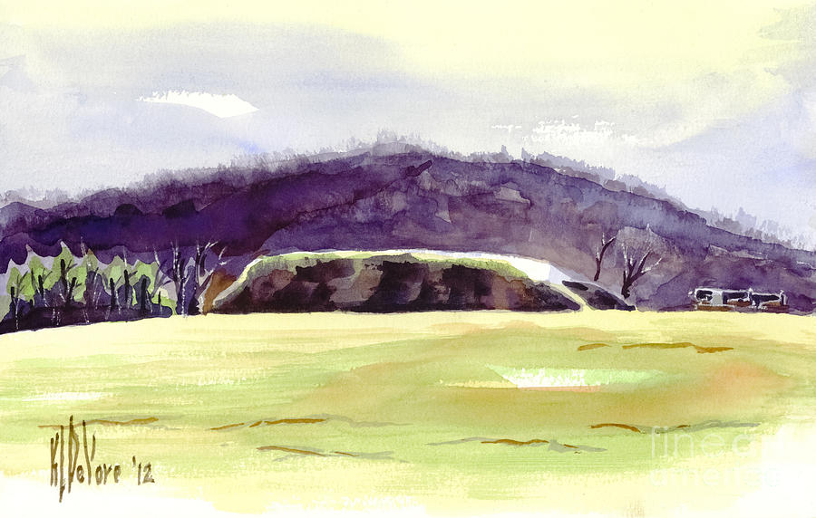 Watercolor Painting - Fort Davidson Battlefield Mid Day by Kip DeVore